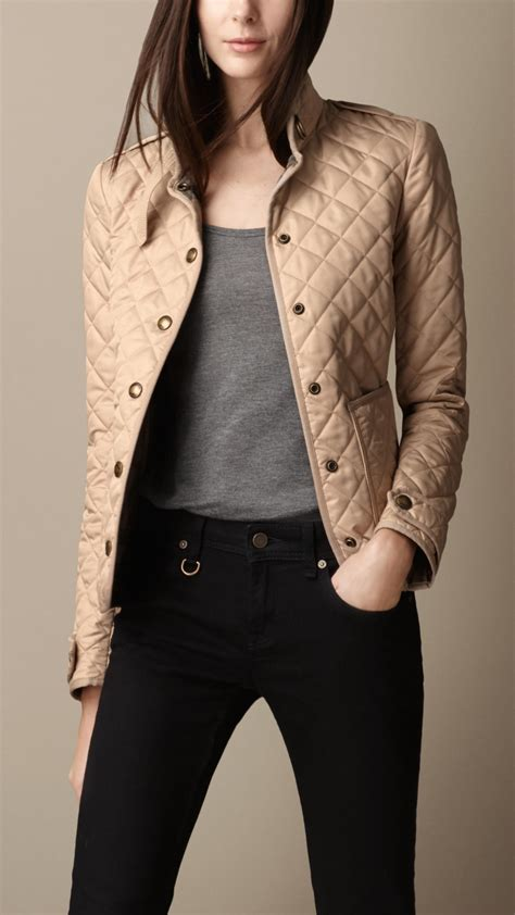 burberry heritage quilted jacket in lyst