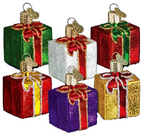 old world christmas ornaments gift box 36034
