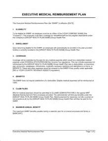 Reimbursement Agreement Template executive medical reimbursement plan template amp sample