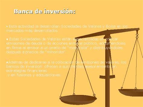 bancos inversion clasificaci 243 n de los bancos monografias