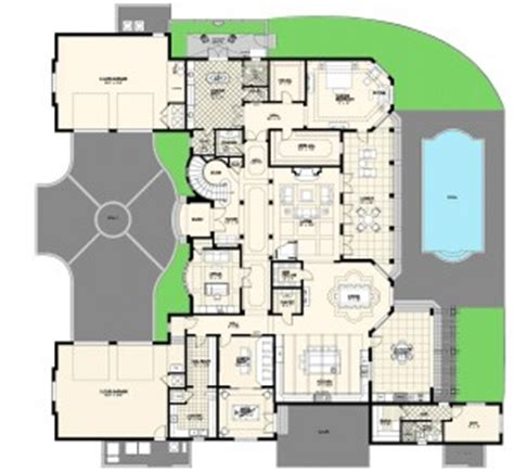 luxury custom home plans villa marina floor plan alpha builders