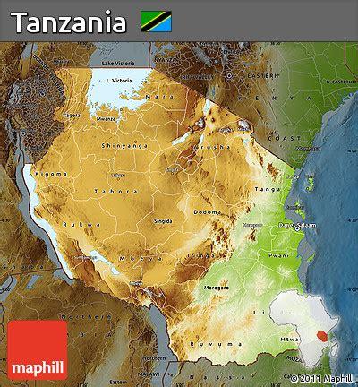 physical map of tanzania free physical map of tanzania darken