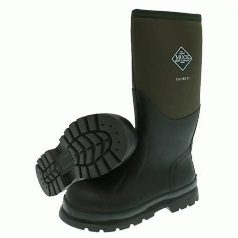 steel toe muck boots the muck boot company chore hi steel toe cap moss