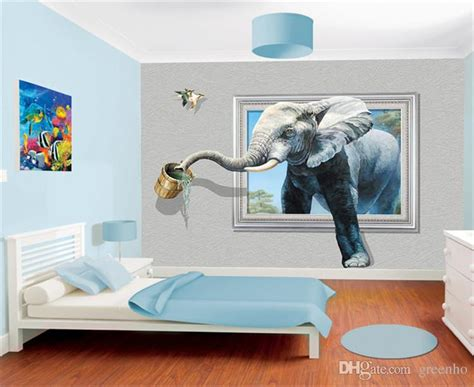 Wholesale Home Decor China by Creative 3d Photo Wallpaper Wall Mural Elephant Animal