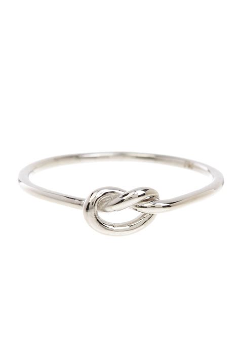 sterling forever sterling silver thin knot ring