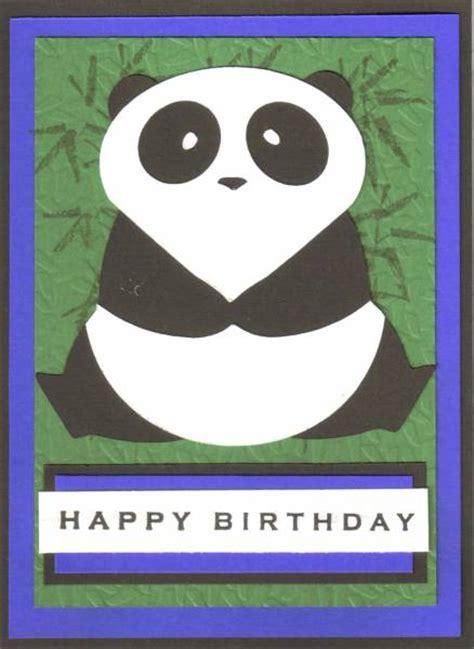 Panda Birthday Card Panda Birthday By Vjf Cards Cards And Paper Crafts At