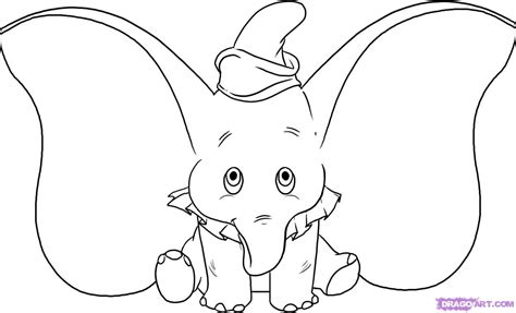orejas de elefante para colorear how to draw dumbo step by step disney characters