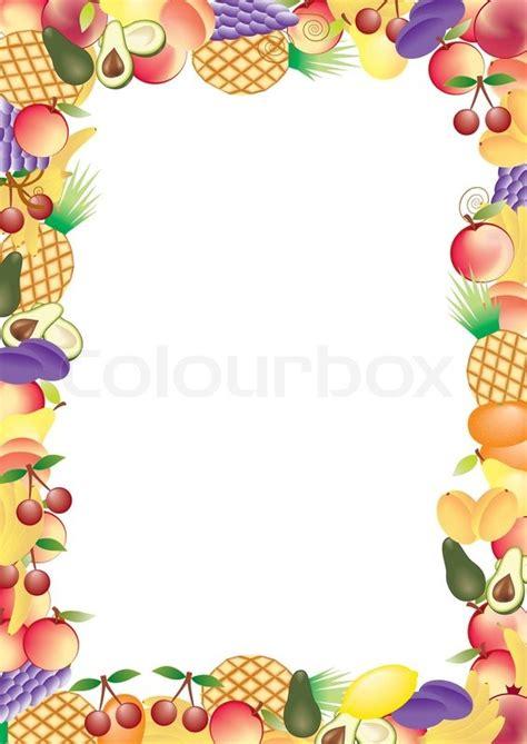 fruits vector frame stock vector colourbox
