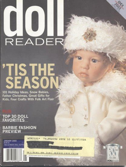 doll reader insert doll reader doll collector magazine january 2003