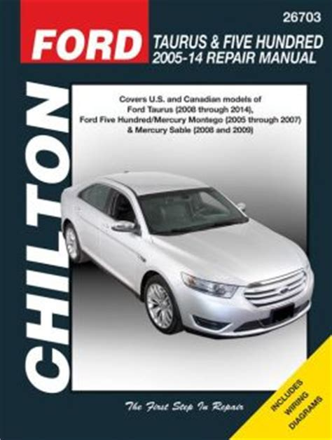 old car repair manuals 2009 ford taurus x auto manual ford taurus five hundred 2005 14 repair manual covers u s and canadian models of ford taurus