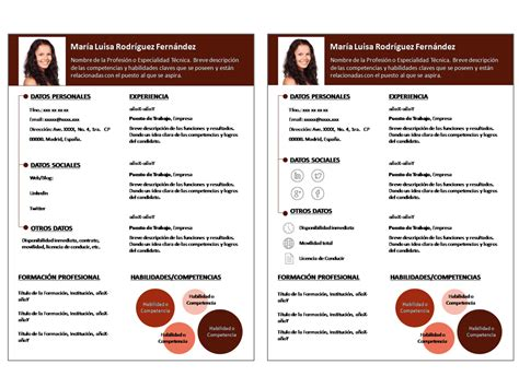 Plantilla De Para Curriculum Plantillas Para Curriculum Vitae Destaca Con Tu Cv Modelo Infocircle