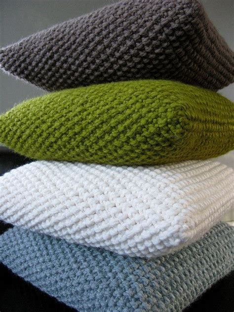 Knit Pillow Pattern by Knit Pillows No Pattern Moss Stitch Make