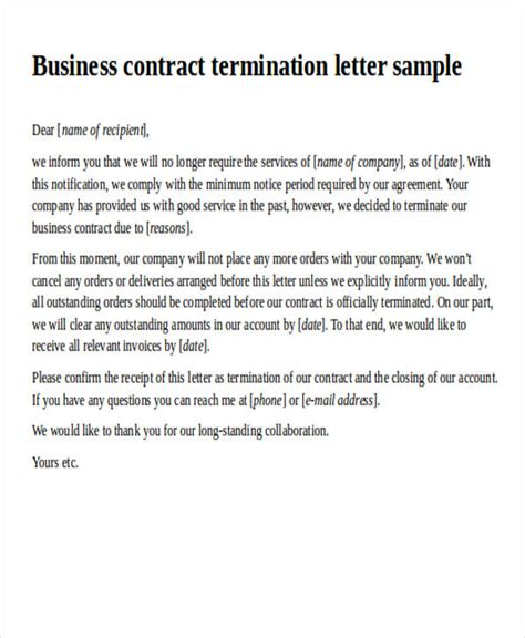 agreement letter formats