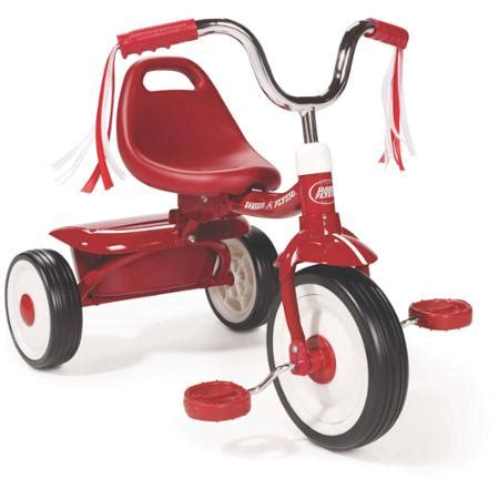 radio flyer tricycle radio flyer ready to ride folding tricycle walmart