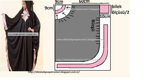 Abaya Tunik Ms 1006 dikiş kalıpları ve patronları kolay tesettur elbise dikimi kaliplari