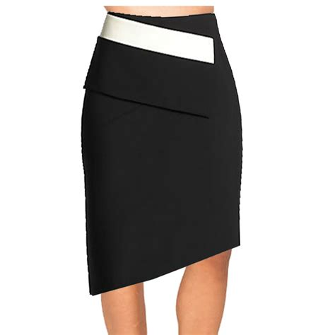 Pensil Skirt by Black And White Asymmetrical Pencil Skirt Elizabeth S