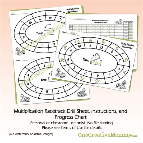 printable multiplication progress chart multiplication facts progress chart