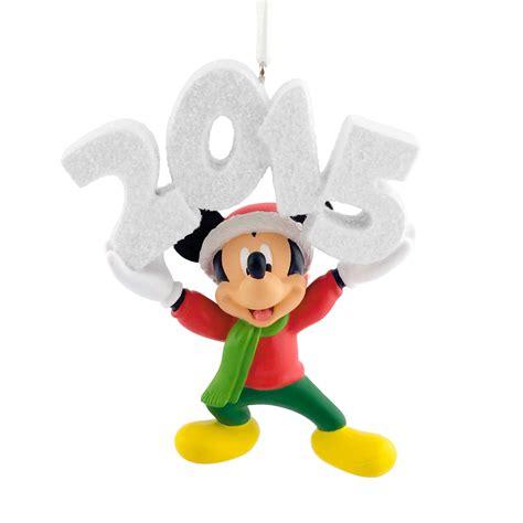 hallmark disney mickey mouse dated 2015 christmas ornament