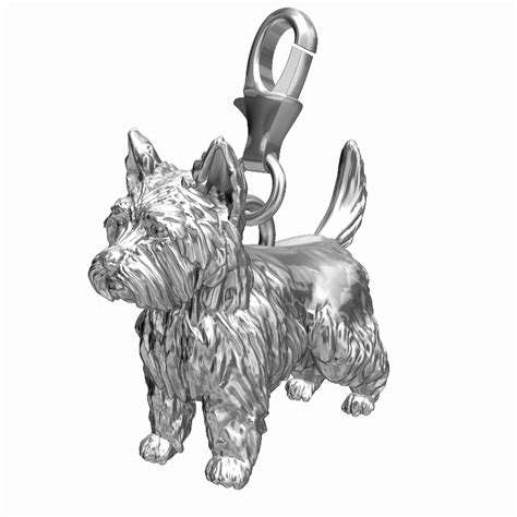 West Highland Terrier Charm   Westie   Fits Pandora Bracelet