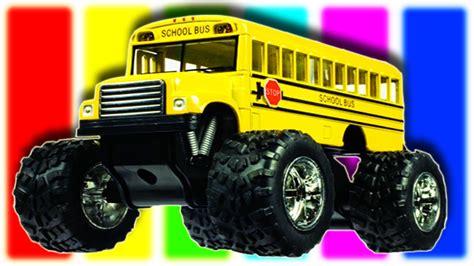 toy monster truck videos for kids monster truck bus for children monster car bus toy for