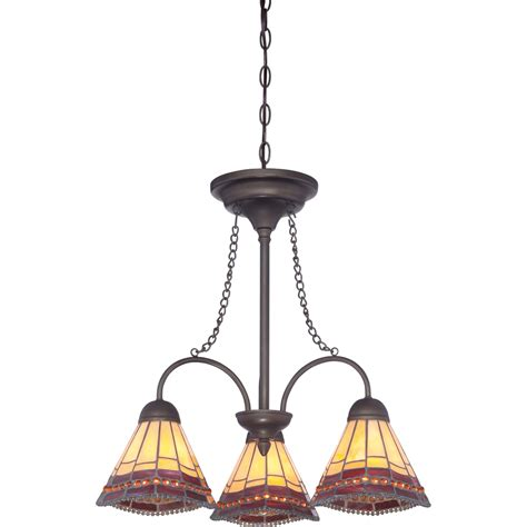 Shop Allen Roth 21 In 3 Light Antique Bronze Stained Lowes Allen Roth Chandelier