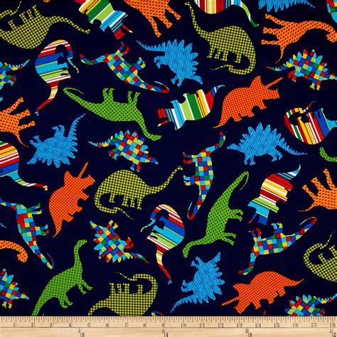 Dinosaur Quilting Fabric by Dinosaurs Bedrock Jurassic Navy Toss Cotton Quilting