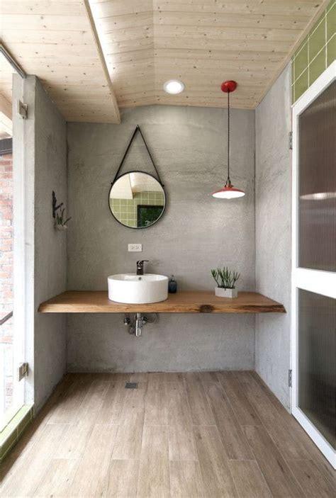 idees de meuble lavabo flottant pour une salle de bain moderne bricobistro