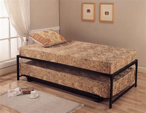 roll out bed roll out pop up steel trundle twin bed contemporary kids beds by overstock com