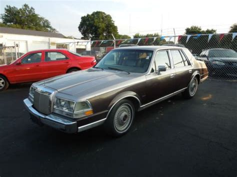 all car manuals free 1986 lincoln continental engine control find used 1986 lincoln continental sedan 4 door 5 0l v8 mark vii in salisbury maryland united