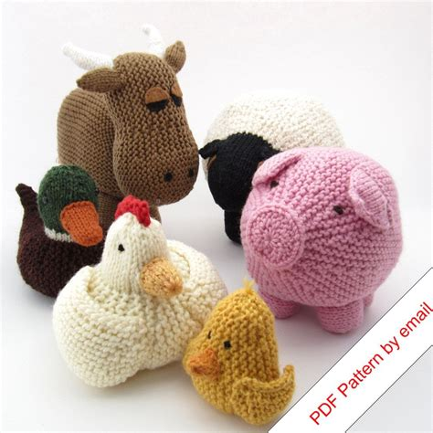 knit animals knitting patterns ebook farm animal toys quot around the