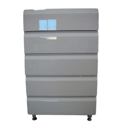 High Gloss Drawers by White High Gloss 5 Drawer Chest