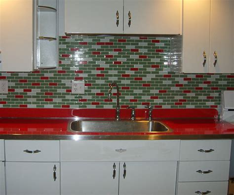 Best Kitchen Backsplash Material a tale of two red countertops retro renovation