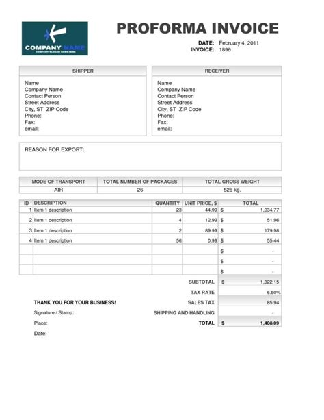 international proforma invoice template international invoice template mickeles spreadsheet