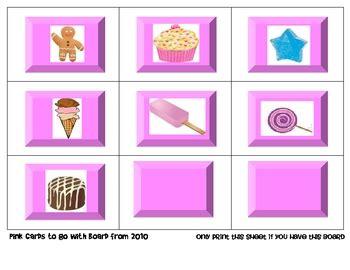 Candyland Cards Template by Land Vowel By Mel D Seusstastic Tpt
