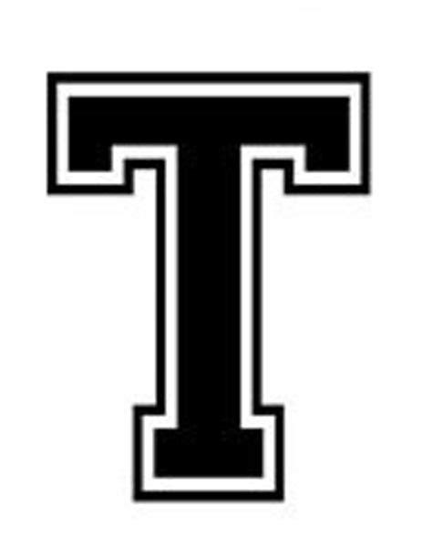 The I T I P varsity college lettering letter t car tablet vinyl