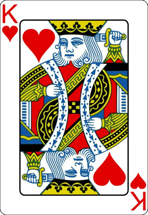 Card Blank Template King Of Diamonds by Cards Vector Png Opengameart Org