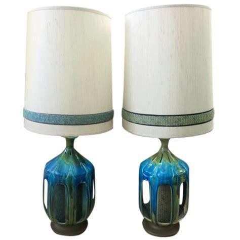Mid Century L Shades by Pair Of Large Drip Glaze Mid Century Ls Original Shades