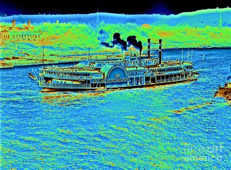 steamboat art steamboat cincinnati 1906 photograph by padre art