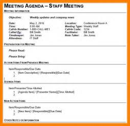 staff meeting agenda template 3 staff meeting agenda template cv for teaching