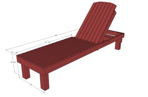build a chaise lounge ana white 35 wood chaise lounges diy projects