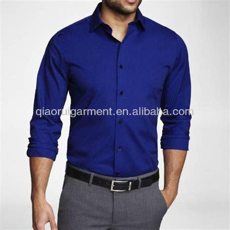 Amenicer Navy Kemeja Pria Style Formal Casual Slim Fit Berkualitas s royal blue slim fit dress shirt