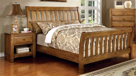 Furniture Of America Palister Country Furniture Of America Rustic Oak Lyra Country Style Sleigh Bed