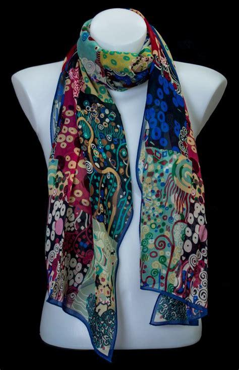 Silk Patchwork Scarf - silk scarf gustav klimt patchwork