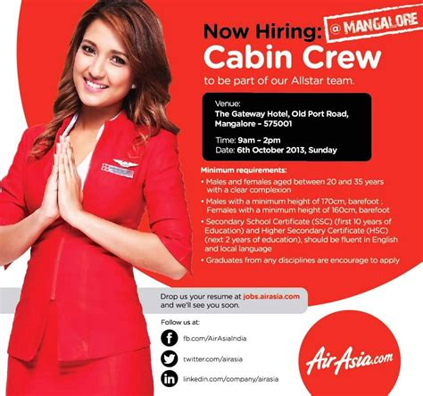 airasia ground staff salary fly gosh air asia india cabin crew walk in interview