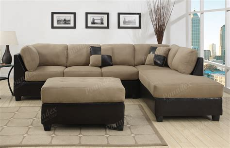 Living Rooms With Sectional Sofas Sectional Sofa Furniture Microfiber Sectional 3 Pc Living Room Set 6 Color Ebay
