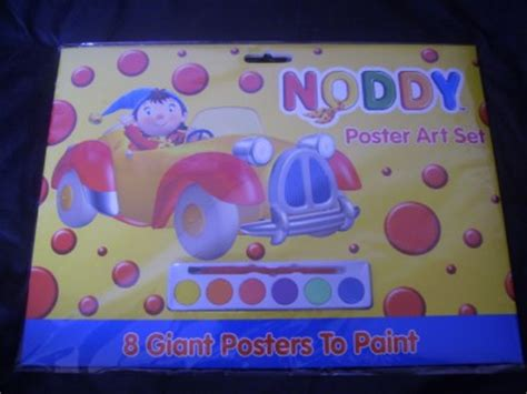 noddy painting noddy poster set 8 posters 6 coloured paints and