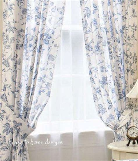 blue toile curtain panels brighton blue white toile window curtain french panel drape