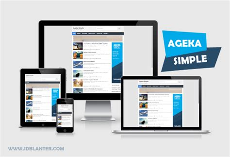 ageka simple responsive blogger template dunia blanter