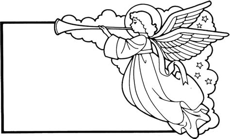 printable christmas angels blank christmas card angel coloring pages 434052