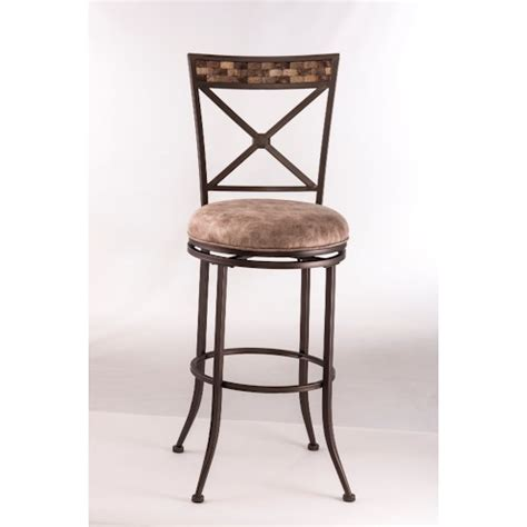 hillsdale metal stools swivel counter height stool with x